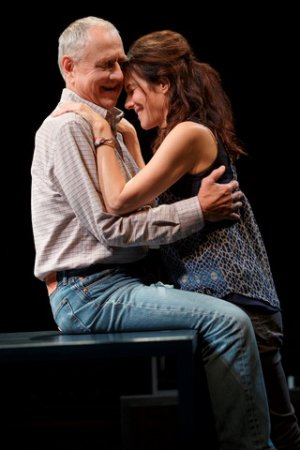 "Denis Arndt and Mary-Louise Parker in a scene from ""Heisenberg"" (Photo credit: Joan Marcus)"