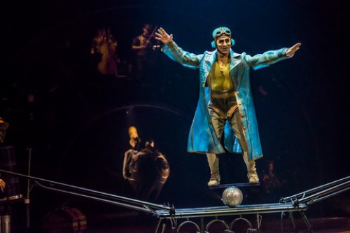 "Colombian James Eulises Gonzalez Correa's Rolla Bolla act in Cirque du Soleil's ""Kurios: Cabinet of Curiosities"" (Photo credit: Martin Girard/shoot studio.ca; costumes: Philippe Guillotel)"