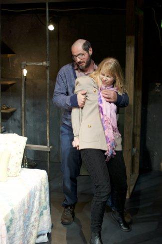 "Matt de Rogatis and Jillian Geurts in a scene from ""The Collector"" (Photo credit: Michael Greenstein)"