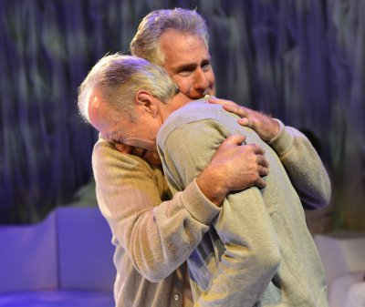 """Paul O'Brien and Will Lyman in a scene from """"Man in Snow"""" (Photo credit: Gary Ng)"""