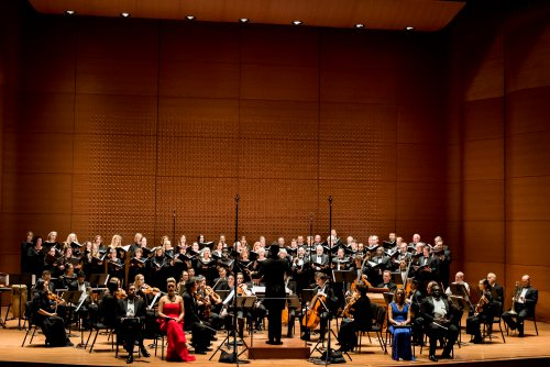 Soloists with Conductor Malcolm J. Merriweather and The Dessoff Choirs and Orchestra (Photo credit: Carolyn Davis)