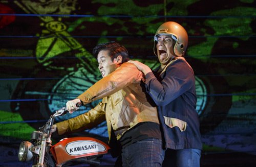 "Raymond Lee and Jon Hoche in a scene from ""Vietgone"" (Photo credit: Carol Rosegg)"