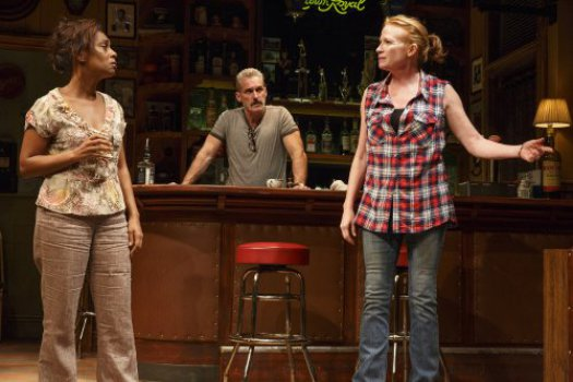 "Michelle Wilson, James Colby and Johanna Day in a scene from Lynn Nottage's ""Sweat"" (Photo credit: Joan Marcus)"
