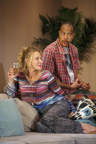 "Luisa Stus and Tyrone Mitchell Henderson in a scene from ""Rancho Viejo"" (Photo credit: Joan Marcus)"