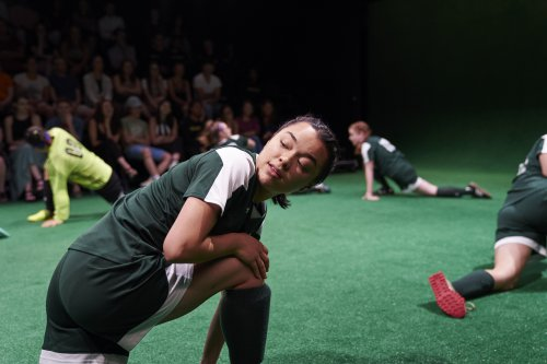 """Midori Francis in a scene from """"The Wolves"""" (Photo credit: Daniel J. Vasquez)"""