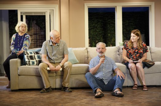 "Julia Duffy, Mark Blum, Mark Zeisler and Mare Winningham in a scene from ""Rancho Viejo"" (Photo credit: Joan Marcus)"