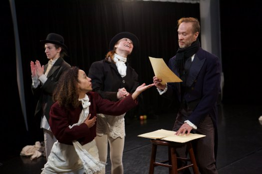 "A scene from Blessed Unrest's ""A Christmas Carol"" (Photo credit: Alan Roche)"