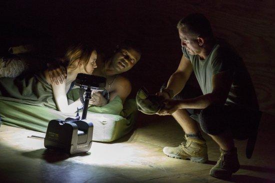 "Rachel Brosnahan, David Oyelowo and Daniel Craig in a scene from ""Othello"" (Photo credit: Joan Marcus)"