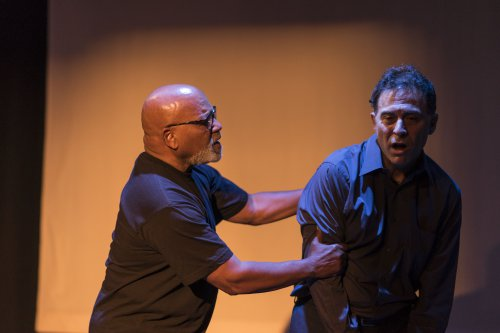 """Fred Johnson and David Deblinger in a scene from """"Lucky Penny"""" (Photo credit: Zachary Zirlin Photography)"""