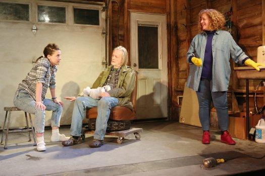 "Irene Sofia Lucio, Stephen Payne and Mary Testa in a scene from ""Orange Julius"" (Photo credit: Sandra Coudert Graham)"