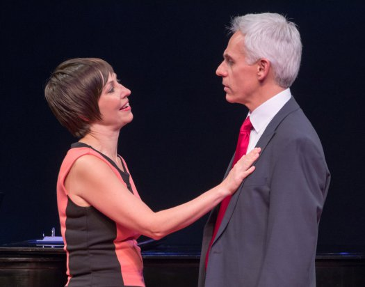 "Vanessa Lemonides, and Neal Mayer in a scene from ""Mark Felt, Superstar"" (Photo credit: Ben Strothmann)"
