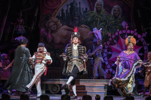 """Chip Zien, Gregg Edelman and Brooks Ashmanskas in a scene from the New York City Opera's revival of """"Candide"""" (Photo credit: Sarah Shatz)"""