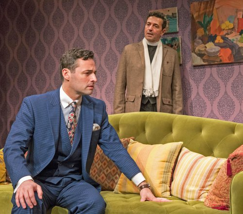 "Max von Essen and Stephen Schnetzer in a scene from the Mint Theater's premiere of ""Yours Unfaithfully"" (Photo credit: Richard Termine)"