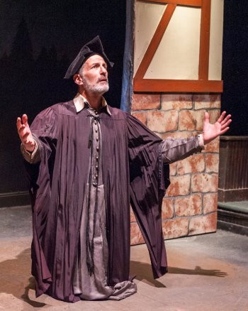 "Jeffrey Grover as Schoolmaster Berthold in a scene from ""Leah, the Forsaken"" at Metropolitan Playhouse (Jacob J. Goldberg Photography)"
