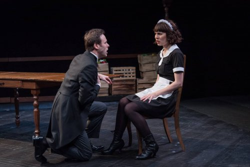 """George Merrick and Katie Kleiger in a scene from """"Ring Twice for Miranda"""" (Photo credit: Russ Rowland)"""