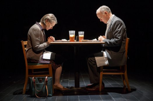 "Annette O'Toole and Reed Birney in a scene from ""Man from Nebraska"" (Photo credit: Joan Marcus)"
