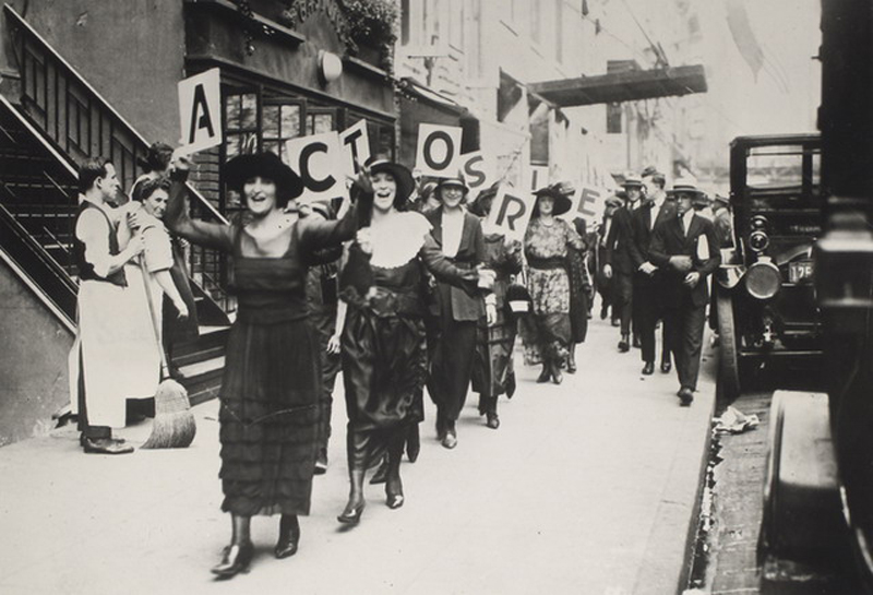 Actors striking in New York City in 1919