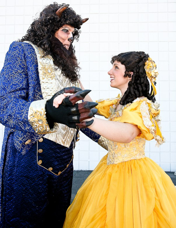 The Beast and Belle from BEAUTY AND THE BEAST