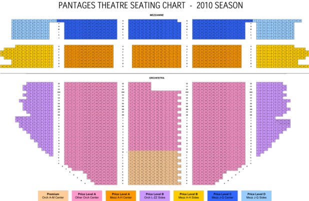 Pantages Theater Seating Chart View Brokeasshome Com