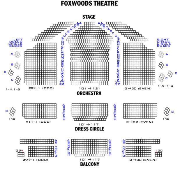 foxwoods theatre seating