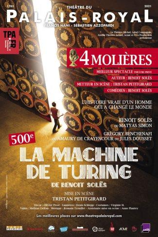 La Machine de Turing à voir au théâtre à Paris