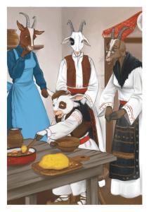 Le chevreau et ses trois mères chèvres