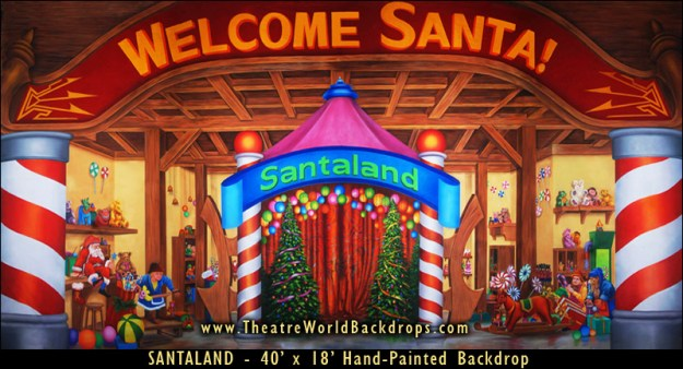 Santaland Professional Scenic Backdrop for Elf: the Musical