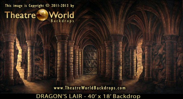 Dragon's Lair Professional Scenic SHREK THE MUSICAL Backdrop