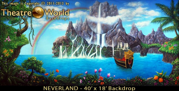 Professional Scenic Neverland Backdrop