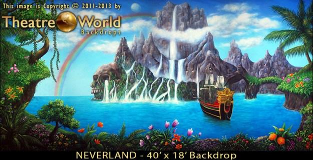 Professional Scenic Neverland Backdrop