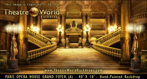Paris Opera House Grand Foyer Professional Scenic Backdrop