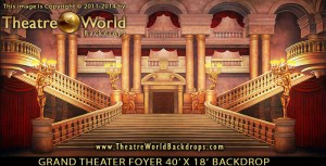 Grand Theater Foyer Professional Scenic Backdrop