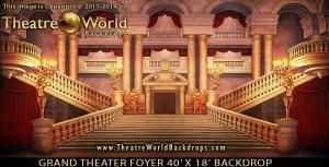 Grand Theater Foyer Professional Scenic Backdrop