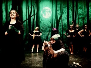 High Tech Theater's INTO THE WOODS with TheatreWorld Professional Scenic Backdrop