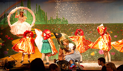 Marvelous ... Lincoln High Schoolu0027s WIZARD OF OZ With TheatreWorld Professional Scenic  Backdrop