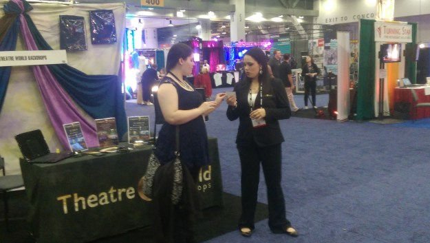 TheatreWorld Professional Scenic Backdrops Team at the USITT 201 Stage Expo