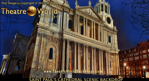 Saint Paul's Cathedral London Professional Scenic Backdrop
