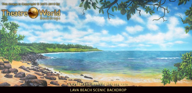 Professional Scenic Backdrop Lava Beach