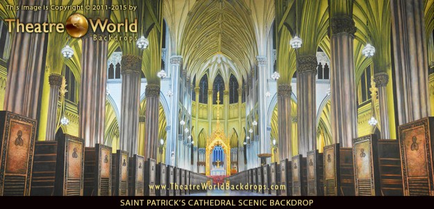 Professional Saint Patrick's Cathedral Scenic Backdrop