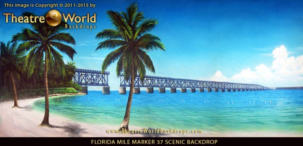 Professional Scenic Backdrop Florida Keys Mile Marker 37