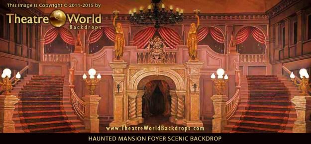 Haunted Mansion Foyer Professional Scenic Backdrop