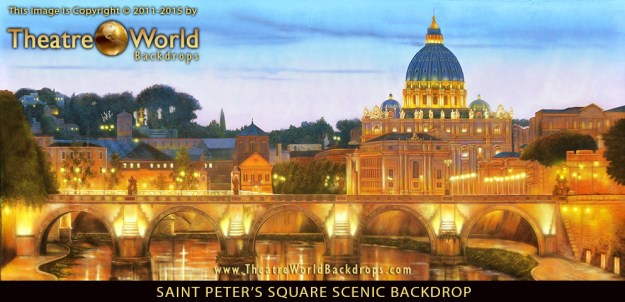 Professional Scenic Backdrop Saint Peter's Square Rome