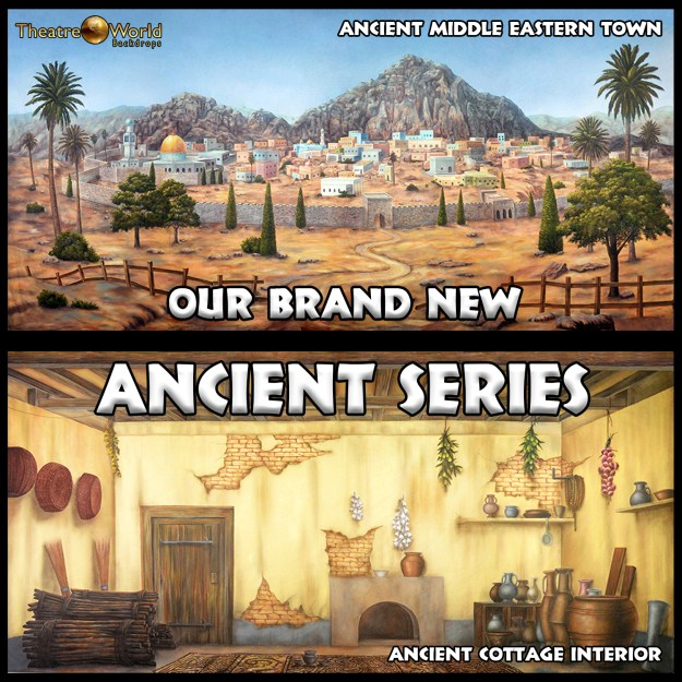 Professional Scenic Backdrops Ancient Series