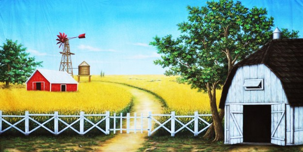 The Wizard of Oz Farm Backdrop