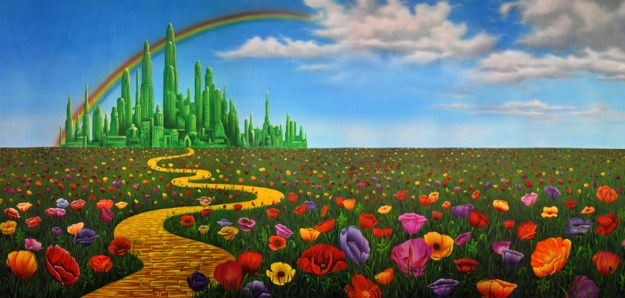 The Wizard of Oz Poppy Field City Backdrop
