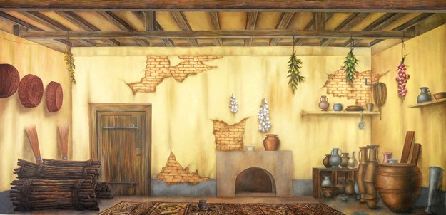 Aladdin Ancient Cottage Interior Professional Scenic Backdrop