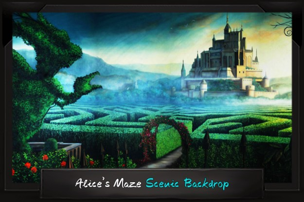 Professional Alice in Wonderland Alice's Maze Scenic Backdrop