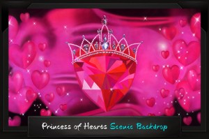 Professional Alice in Wonderland Princess of Hearts Scenic Backdrop
