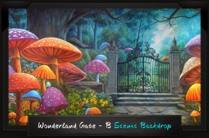 Professional Alice in Wonderland Wonderland Gate - B Scenic Backdrop