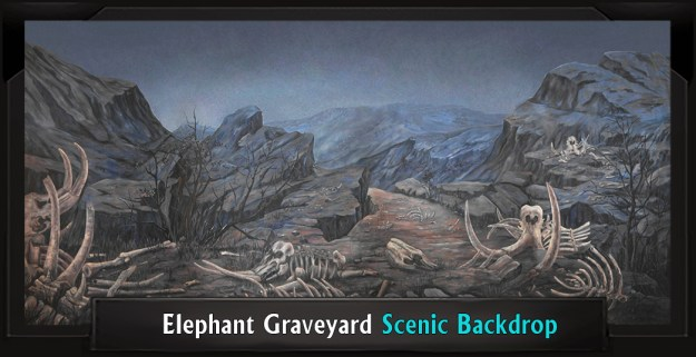 The Lion King Elephant Graveyard Professional Scenic Backdrop